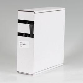 6,4 auf 3,2 mm 7,5 m Schrumpfschlauch-Box schwarz Schrumpfrate 2:1
