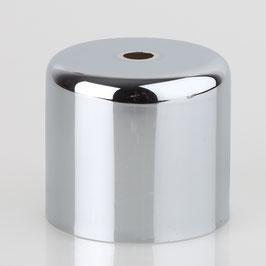 Lampen Baldachin 62x63mm Metall verchromt Zylinderform ohne Stellring fuer Zugentlaster Klemmnippel Ihrer Wahl