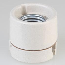 Aufbau-Porzellanfassung E27 weiß