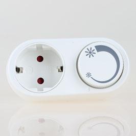 Steckdosen-Dimmer für LED Lampen 3-24W/230V und Glühlampen, Halogenlampen 25-200W/230V