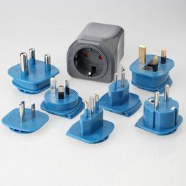 Reisestecker-Adapter Set Deutschland auf 150 Länder 10A/250V