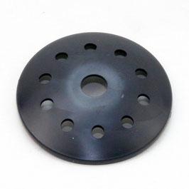 Abschlußscheibe Kaschierung Kunststoff mit Lochmuster Durchmesser 62x7mm