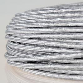 Textilkabel Stoffkabel silber 4-adrig 4x0,75 Pendelleitung