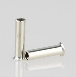 100 x Aderendhülsen 0,50 mm² 6 mm unisoliert aus Metall