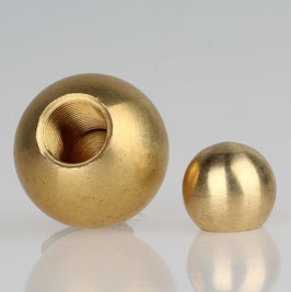 Metall-Kugel Messing roh 16 mm Durchmesser mit M5 Sackgewinde