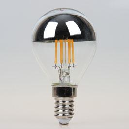 Sigor E14 LED Filament Kopfspiegellampe silber 4,5W=(35W) 400lm warmweiß dimmbar
