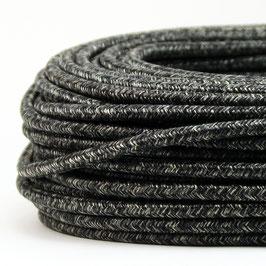 Textilkabel Stoffkabel grau meliert 3-adrig 3x0,75 Schlauchleitung 3G 0,75 H03VV-F