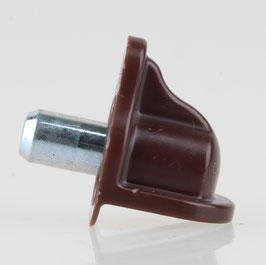 Häfele Bodenträger H3105 für Holz oder Glas 5mm Kunststoff braun (20 Stück)