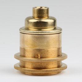 E27 Vintage Lampenfassung Metall Messing roh 2 Schraubringe ohne Zugentlaster