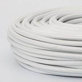 Textilkabel-Stoffkabel weiß 3-adrig 3x1,0 mit Stahlseil zur Zugentlastung