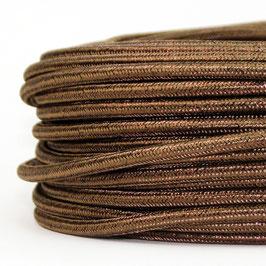 Textilkabel Stoffkabel braun metallic 3-adrig 3x0,75 Gummischlauchleitung 3G 0,75 H03VV-F textilummantelt