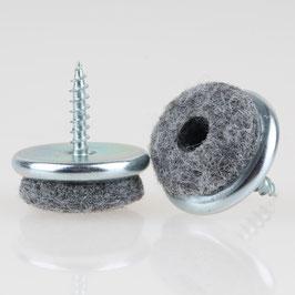 Filzgleiter 22 mm Metall mit Schraube für Holzstühle