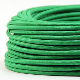 Textilkabel Stoffkabel grün 3-adrig 3x0,75 Schlauchleitung 3G 0,75 H03VV-F