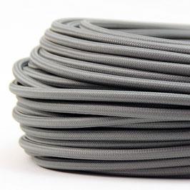 Textilkabel Stoffkabel grau 3-adrig 3x0,75 Schlauchleitung 3G 0,75 H03VV-F