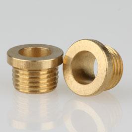 Trompeten-Nippel 12x8 Messing M10x1x6 ohne Verdrehschutz
