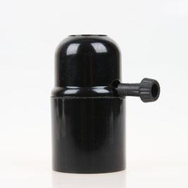 E27 Bakelit Fassung mit Drehschalter