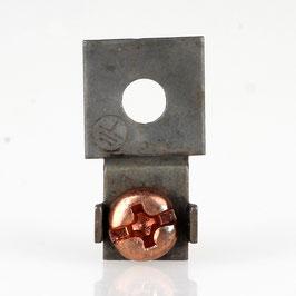 Erdlasche mit 4,2mm Loch 12x20mm Metall roh