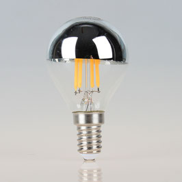 Osram LED Filament Kopfspiegellampe silber 4W/240V Tropfen-Form klar E14 Sockel warmweiß