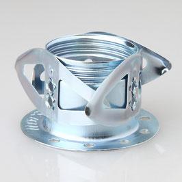 E14 Metall-Federring Federkorb Metall verzinkt mit Schuppenfeder