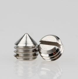 M5 Madenschraube Metall verzinkt mit Spitze DIN 553 Länge 5mm (10 Stück)
