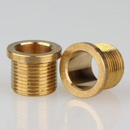 Trompeten-Nippel 15x12 Messing M13x1x10 ohne Verdrehschutz