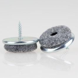 Filzgleiter 30 mm Metall mit Schraube für Holzstühle