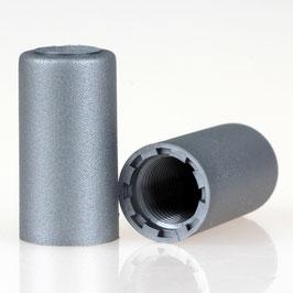Abschlussknopf 13x25mm Kunststoff silber M10x1 Innengewinde
