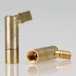 Lampen Dreh-Kippgelenk Messing roh M8x1 IG auf M8x1 AG 10x43mm
