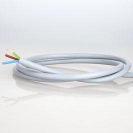 PVC Lampenkabel Rundkabel grau 3-adrig, 3x0,75mm² H03 VV-F
