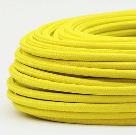 Textilkabel Stoffkabel neon gelb 3-adrig 3x0,75 Schlauchleitung 3G 0,75 H03VV-F