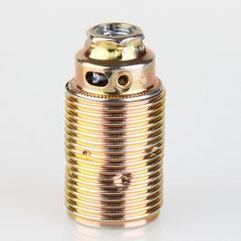 E14 Fassung Metall vermessingt mit und ohne Aussengewinde