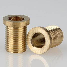 Trompeten-Nippel 12x15 Messing M10x1x13 ohne Verdrehschutz
