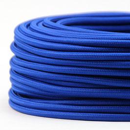 Textilkabel Stoffkabel dunkelblau 3-adrig 3x0,75 Schlauchleitung 3G 0,75 H03VV-F