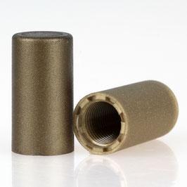 Abschlussknopf 13x25mm Kunststoff gold M10x1 Innengewinde