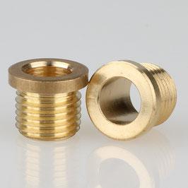 Trompeten-Nippel 12x10 Messing M8x1x8 ohne Verdrehschutz