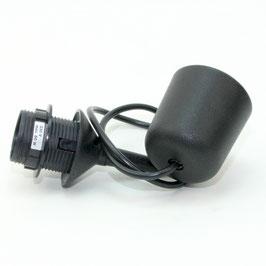 E27 Lampen Leuchtenpendel Kunststoff schwarz mit Baldachin