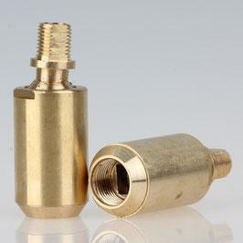 Lampen Kugelgelenk 21x54 Messing roh M13x1 IG auf M10x1 AG