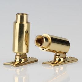 Lampen Dreh Kippgelenk Messing M8x1 IG mit Lasche 13x37 mm