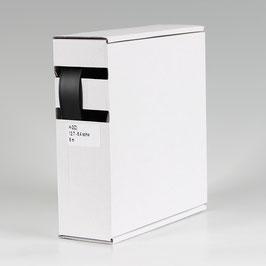 12,7 auf 6,4 mm 6 m Schrumpfschlauch-Box schwarz Schrumpfrate 2:1