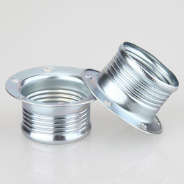2x E14 Schraubringe Metall 43x20 mm für Metallfassung