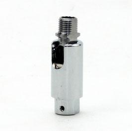 Leuchten Kipp-Gelenk Chrom poliert M10x1 Außengewinde auf M10x1 Innengewinde 16x48 mm