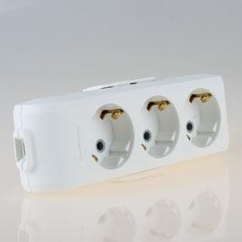 Panasonic 3-fach Tischsteckdose Steckdosenleiste weiß 250V/16A ohne Kabel Zuleitung