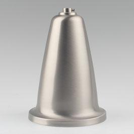Lampen Baldachin 120x160mm edelstahloptik mit Stellring für 10mm Pendelrohr