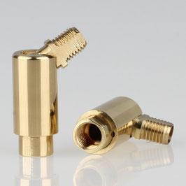 Lampen Dreh Kippgelenk messing poliert M8x1 AG auf M8x1 IG 13x41mm