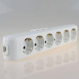 Panasonic 6-fach Tischsteckdose Steckdosenleiste weiß 250V/16A ohne Kabel Zuleitung