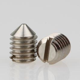 M6 Madenschraube Metall verzinkt mit Spitze DIN 553 Länge 8mm (10 Stück)