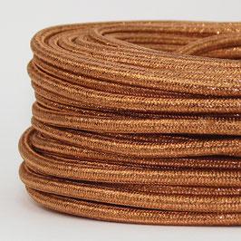 Textilkabel Stoffkabel kupfer metallic 3-adrig 3x0,75 Gummischlauchleitung 3G 0,75 H03VV-F textilummantelt