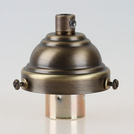 Lampenschirm Glashalter 58x35mm Antik Fume mit E14 Fassung