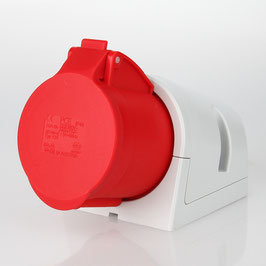 PCE CEE Wand-Steckdose 5-polig 32A/400V IP44 rot/grau
