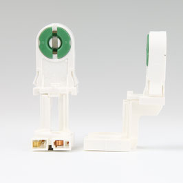 G13 Fassung für T8 Leuchtstoffröhren mit Starterfassung durchsteckbar